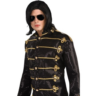 Rubies Michael Jackson Straight Wig and Glasses