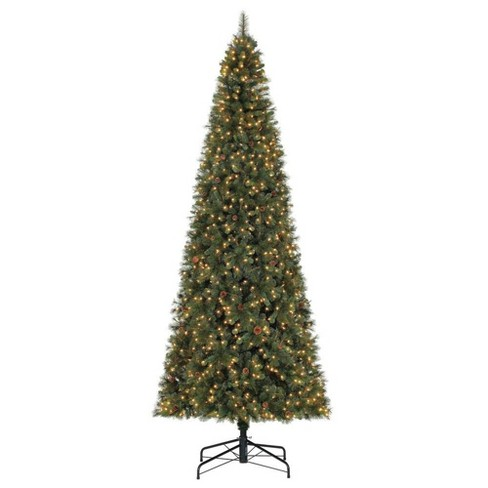 Home Heritage Albany 12' Pre-Lit Artificial Christmas Tree w/ Pine Cones & Stand - image 1 of 4