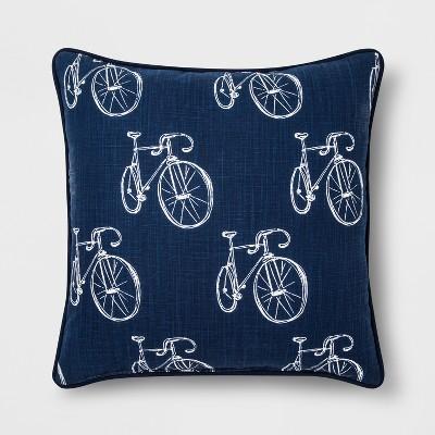 Blue Bike Square Throw Pillow - Room Essentials™