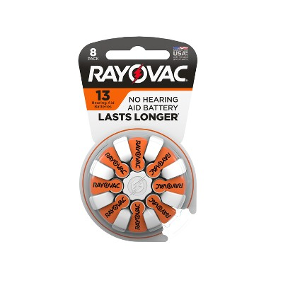 Rayovac Size 13 Hearing Aid Battery 8pk