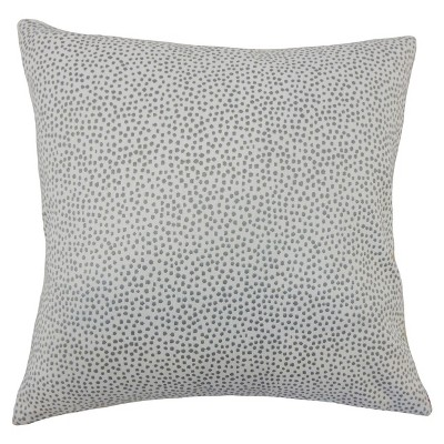 """Gray Textured Square Throw Pillow (18""""x18"""") - The Pillow Collection"""