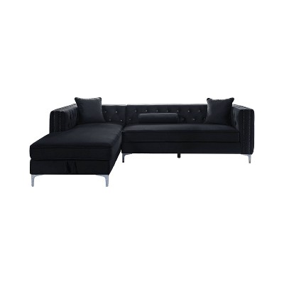Martella Tufted Sectional Black - HOMES: Inside + Out