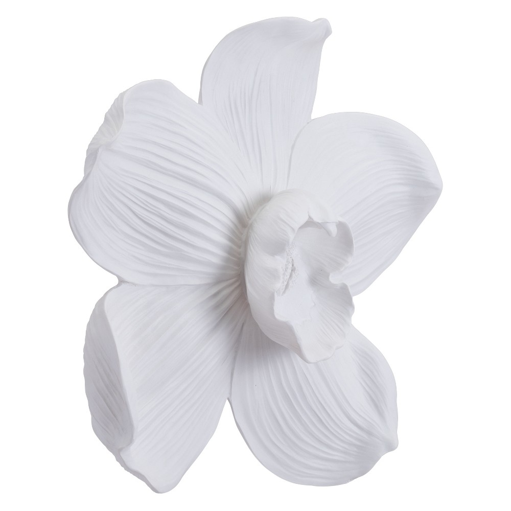 ZM Home 22 Orchid Wall Sculpture White