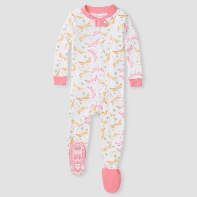 Burt's Bees Baby Girls' Dragonfly Footed Pajamas - Pink