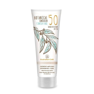 Australian Gold Botanical Tinted Face Sunscreen Lotion - Fair - SPF 50 - 3 fl oz