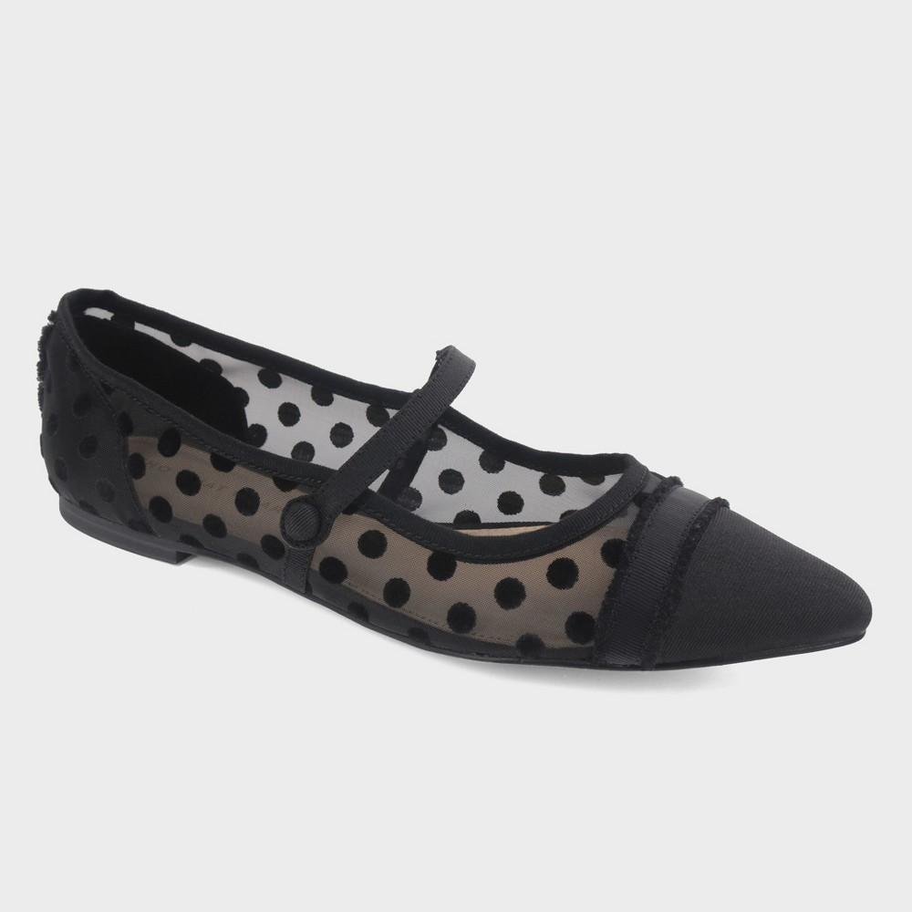 Women's Nellie Polka Dot Mary Jane Ballet Flats - Who What Wear Black 11