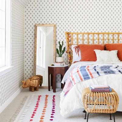 9f889bf8dbf0 Opalhouse™ Orange   Blue Bohemian Bedroom Styled by Emily Henderson