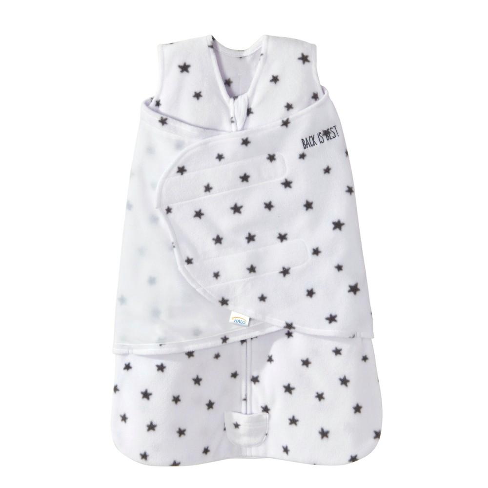 Halo Sleepsack Swaddle Micro Fleece Mini Stars - White - NB