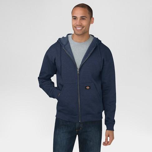 66e0624e Dickies® Men's Big & Tall Midweight Fleece Full Zip Hoodie- Dark Navy XXXL  Tall : Target