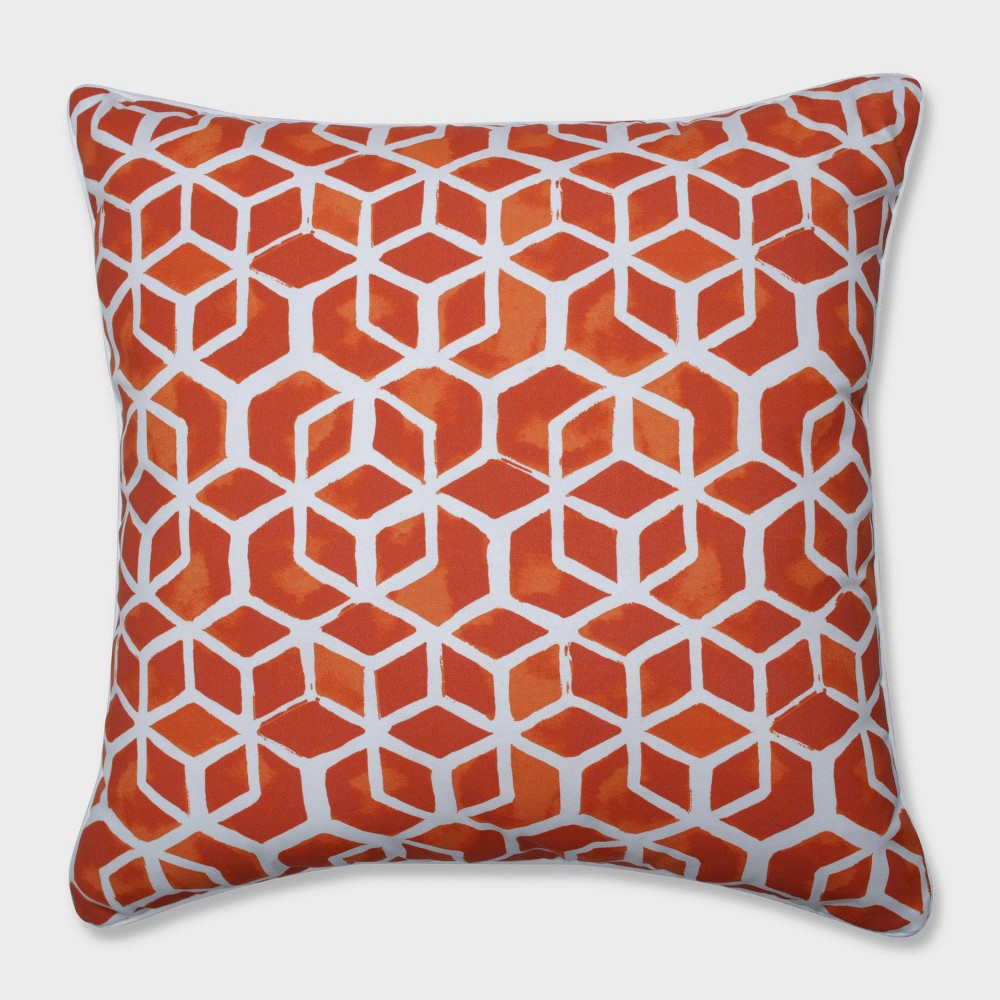 25 Celtic Marmalade Floor Pillow Orange - Pillow Perfect