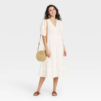 Women's Puff Elbow Sleeve Dress - Universal Thread™