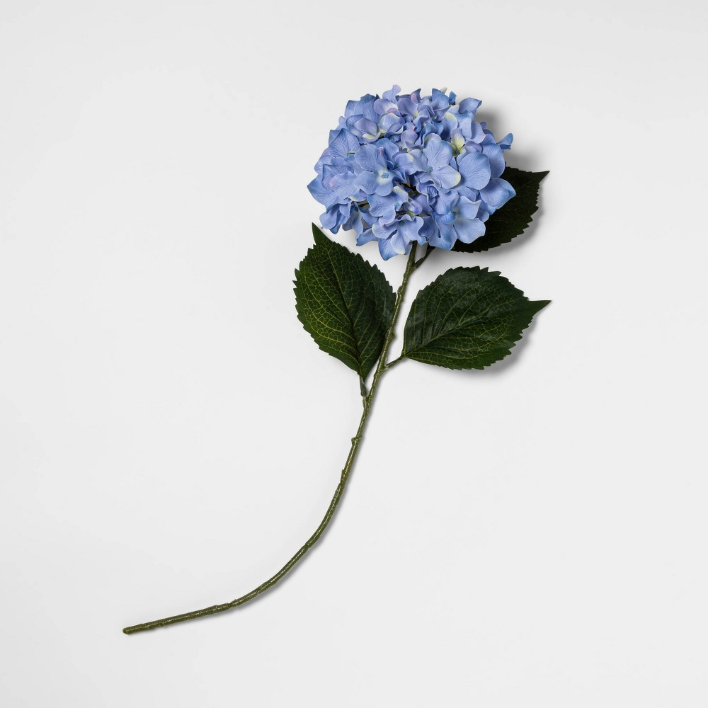 "Image of ""24"""" Artificial Hydrangea Stem Blue - Threshold"""