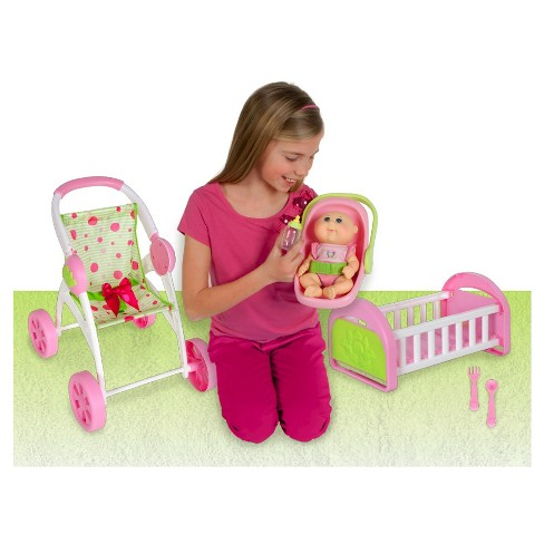 "Cabbage Patch Kids Play n' Travel Set with 9"" Tiny Newborn - image 1 of 7"