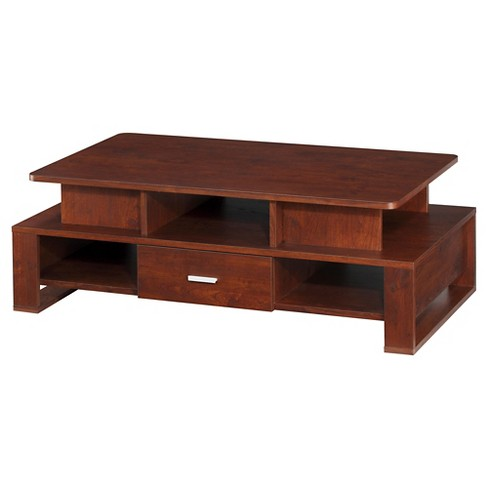 Rosanne Unique Tiered Cut-out Shelving Coffee Table Walnut - HOMES: Inside + Out - image 1 of 4