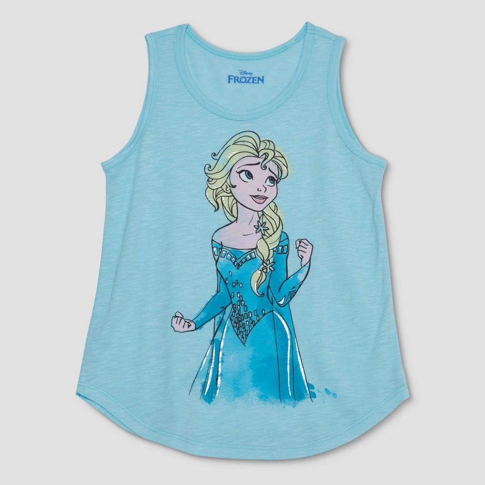 Girls' Frozen Elsa Tank Top - Aqua S, Blue