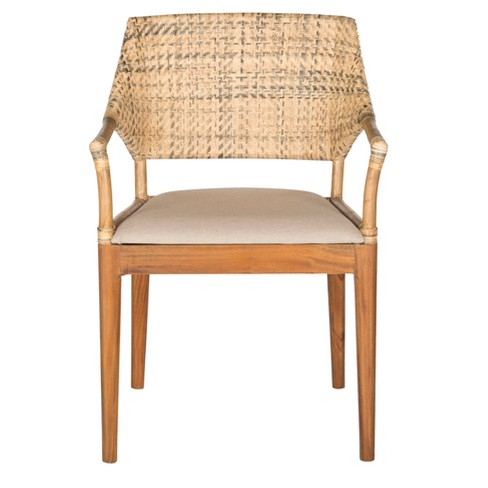 Dining Chair Wood/Honey - Safavieh - image 1 of 4