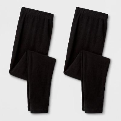 Girls' 2pk Leggings - Cat & Jack™ Black