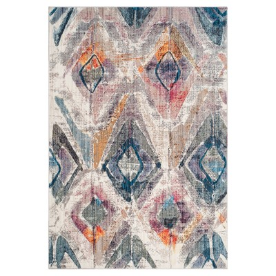 Lavender/Light Gray Geometric Loomed Accent Rug 3'X5' - Safavieh