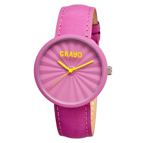 Women's Crayo Pleats Watch with 3D Pleat Pattern Dial - image 1 of 3
