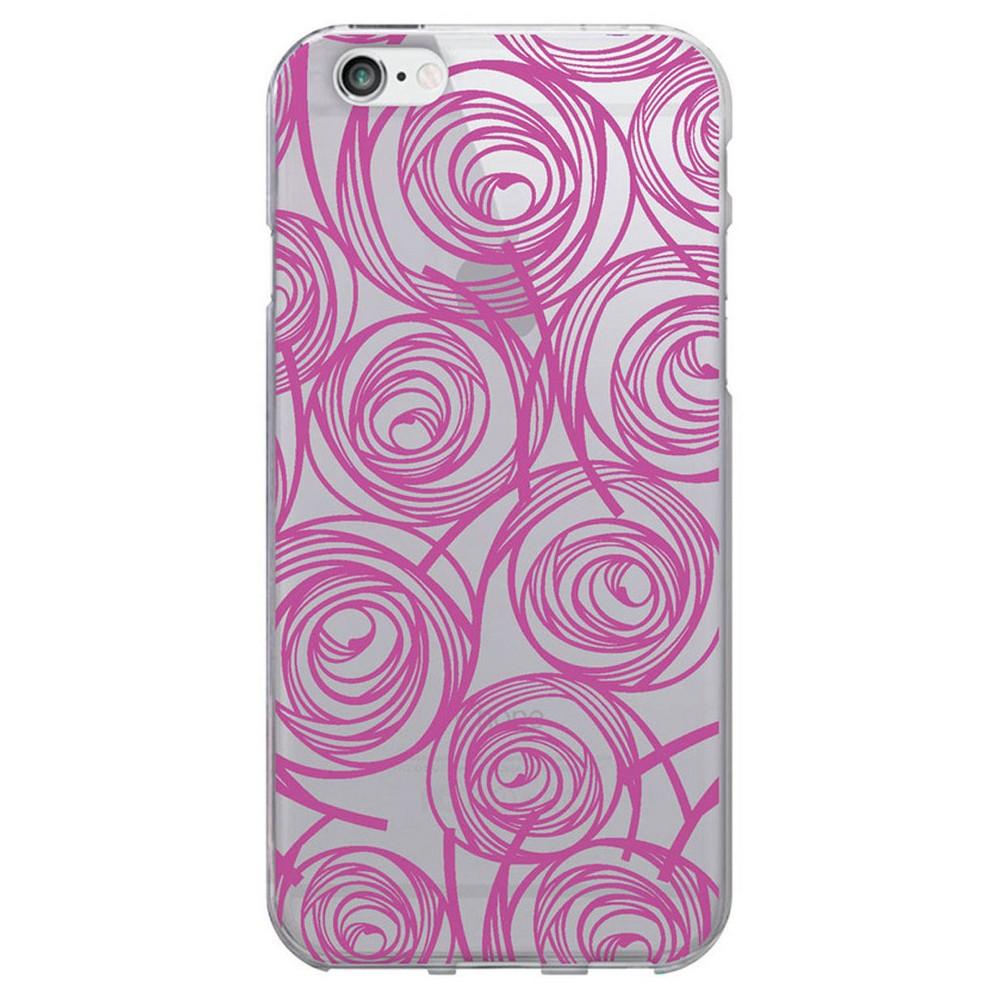 iPhone 6/6S Case - Otm New Age Prints Clear - Magenta Swirls, Magenta Quartz