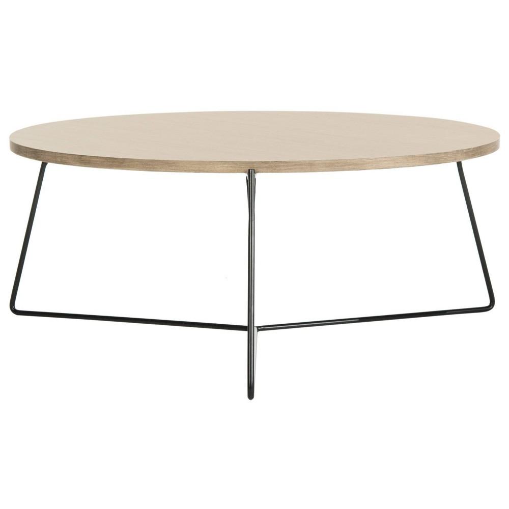 Mae Coffee Table - Light Brown - Safavieh