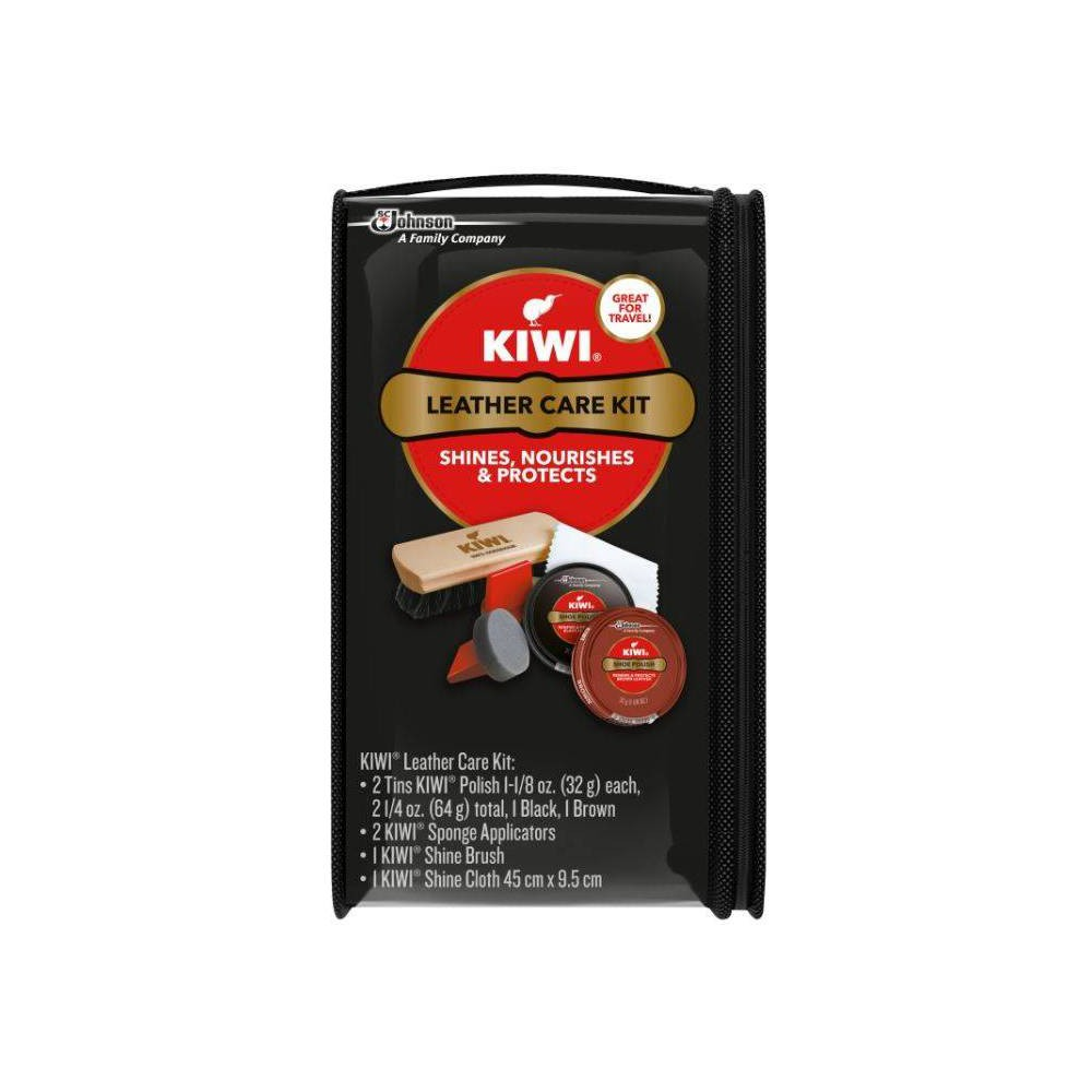 Image of KIWI Leather Shoe Care Kit Black and Brown - 6ct, Adult Unisex, Size: Small, MultiColored