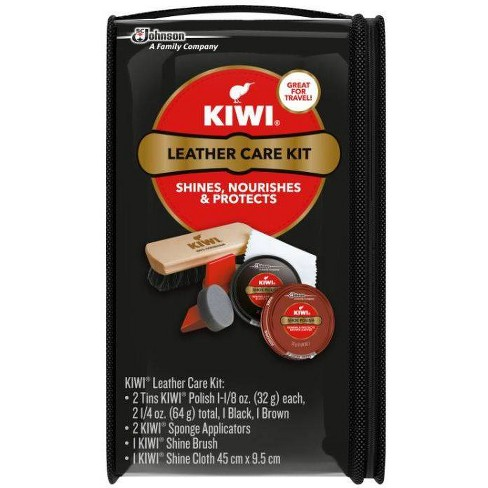Pack of 2 1 Ct KIWI Shine Brush For Shoes and Boots 100/% Horsehair