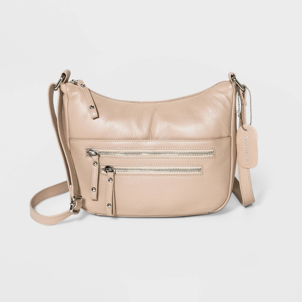 Image of Great American Leather Hobo Handbag - Off White, Beige