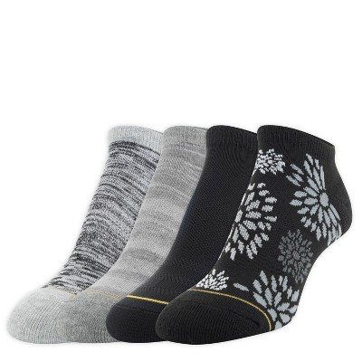 All Pro By Gold Toe Womens Floral Print 3 1pk Cushion Athletic Socks