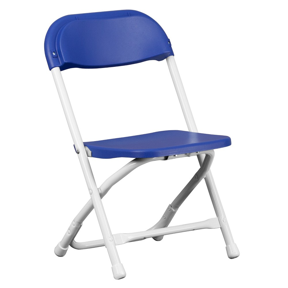 Riverstone Furniture Collection Kid's Folding Chair Blue