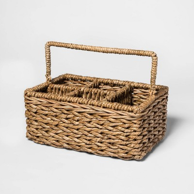 Chunky Seagrass Woven Utensil Caddy Beige - Threshold™