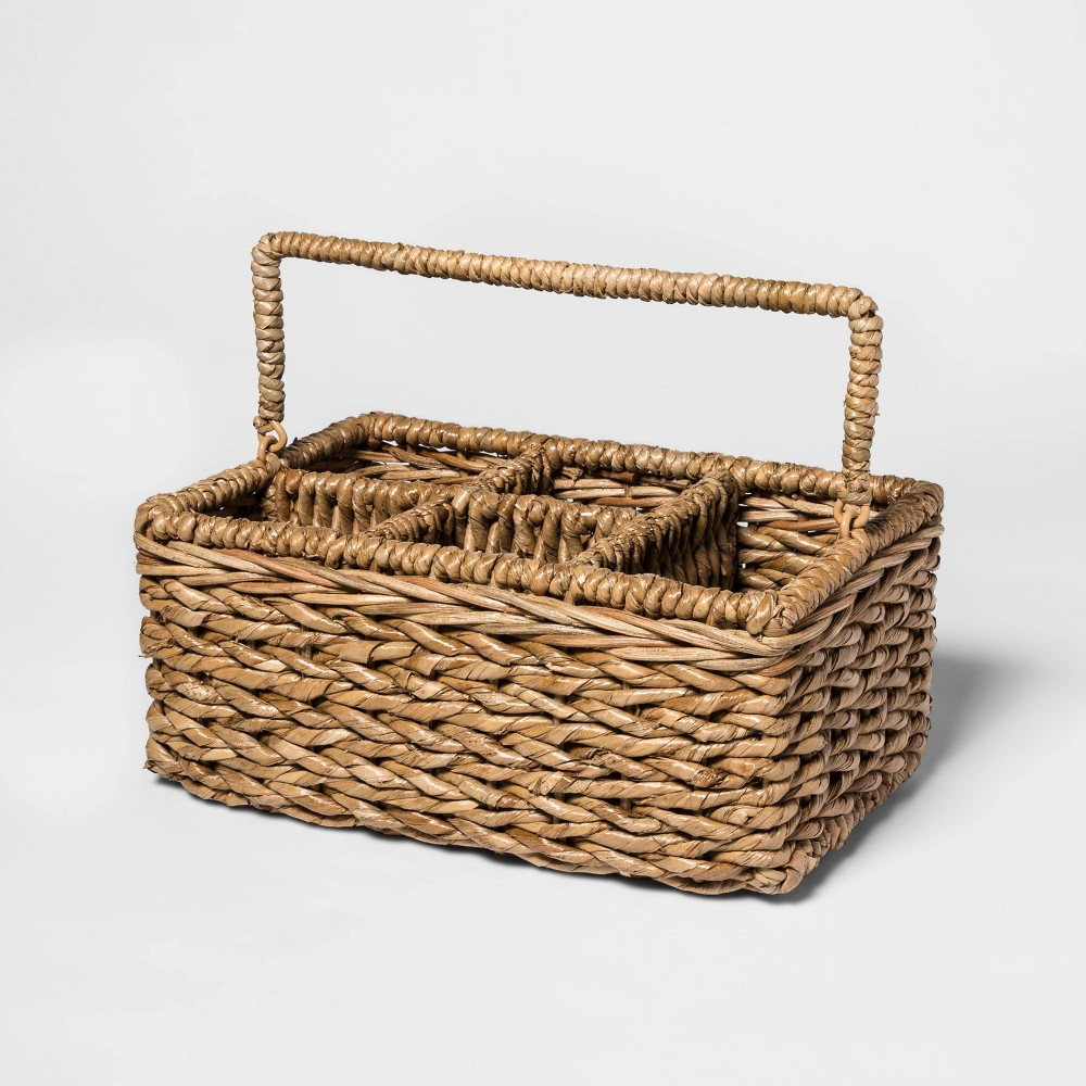 Image of Chunky Seagrass Woven Utensil Caddy Beige - Threshold
