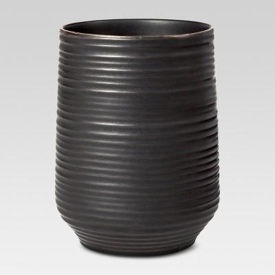 Ceramic Tumbler Black/Gold - Threshold™