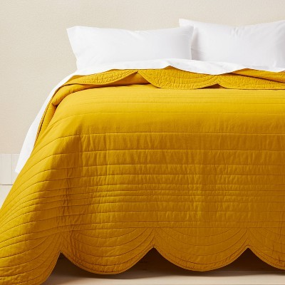 King Scalloped Edge Quilt Gold - Opalhouse™ designed with Jungalow™