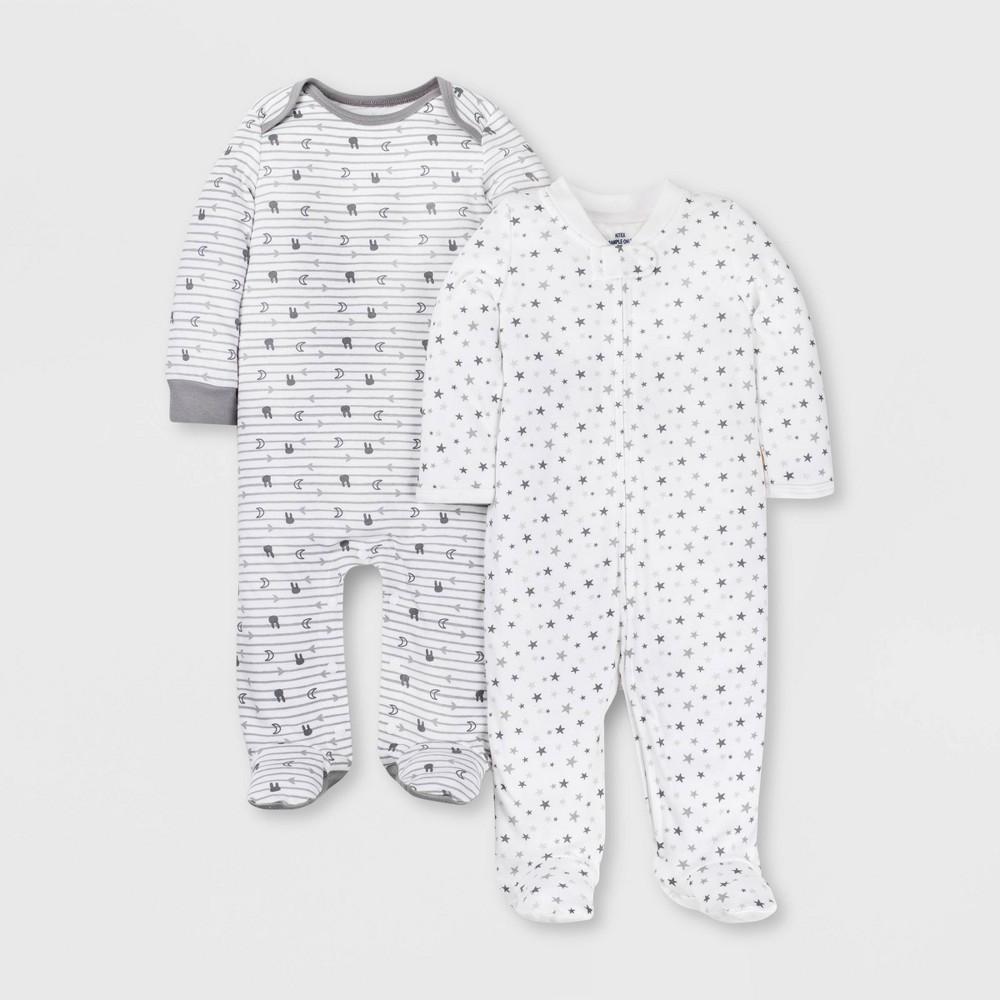 Image of Lamaze Baby 2pk 100% Cotton Sleep 'N Play - Gray Newborn, Kids Unisex, White Gray
