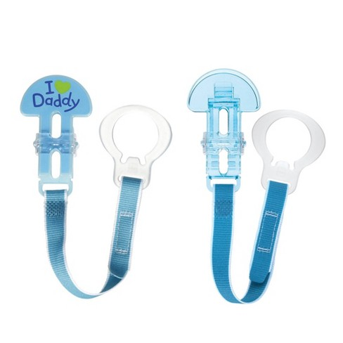MAM Love & Affection Daddy Pacifier Clip, All Ages - 2ct Blue - image 1 of 3