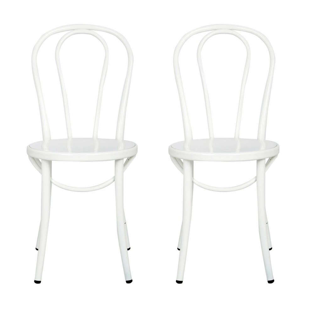 Image of Ellie Bistro Dining Chair (Set of 2) - Reservation Seating by Ace Bayou, White