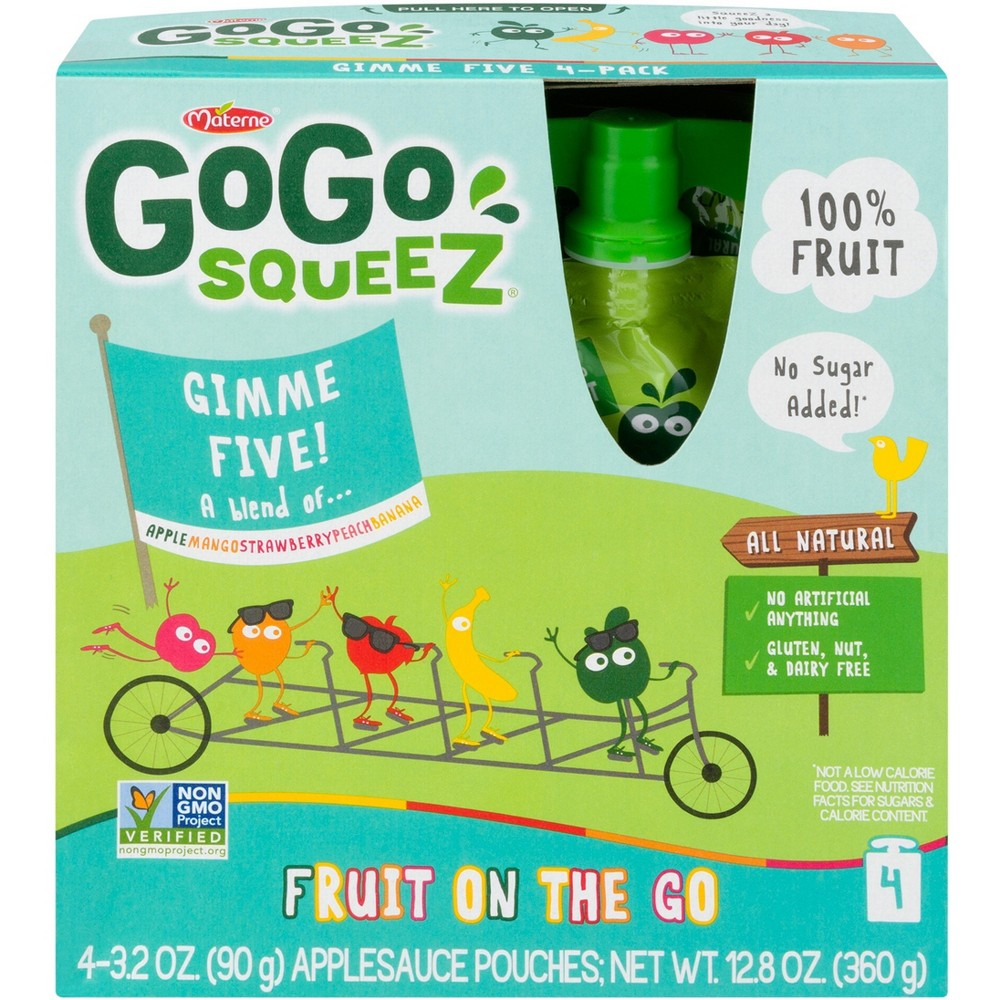 Gogo Squeez Applesauce On The Go Mixed Fruits Pouches 4ct...