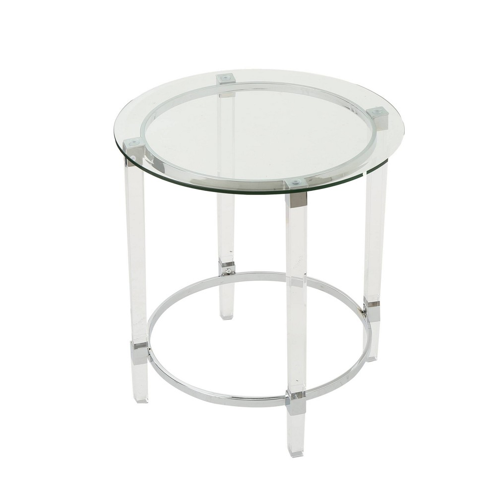 Orianna Circular Glass Table Clear - Christopher Knight Home
