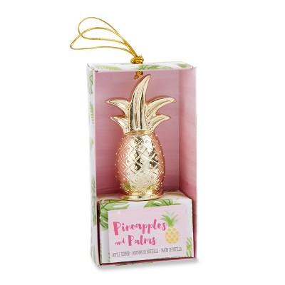 12ct Gold Pineapple Bottle Stopper