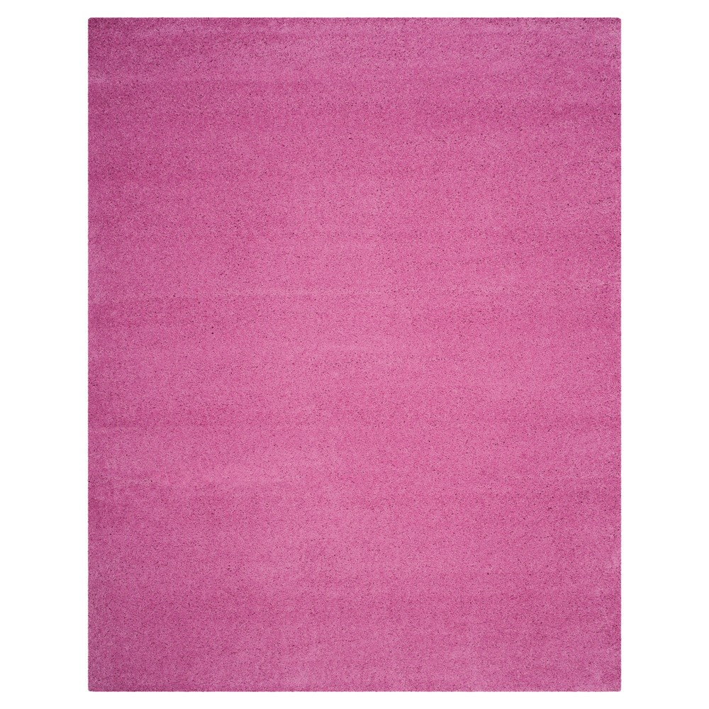 Pink Solid Loomed Area Rug - (6'7