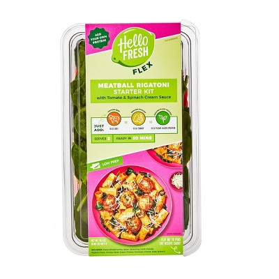 HelloFresh Flex Meatball Rigatoni With Tomato & Spinach Cream Sauce Meal Starter Kit - 15.4oz