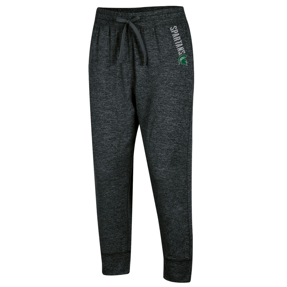 Michigan State Spartans Women's Relaxed Fit Cropped Sweatpants XL, Multicolored