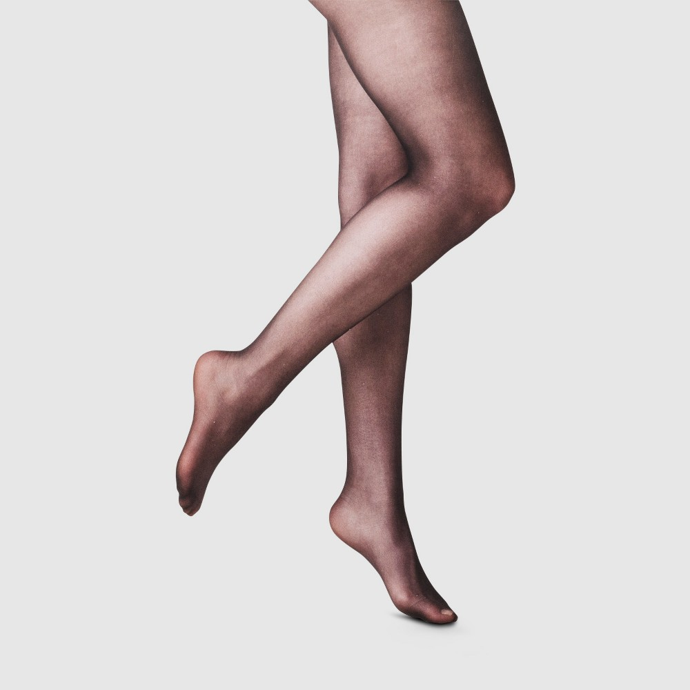Compare Womens 20D Sheer Tights - A New Day Black L XL