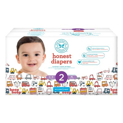 Honest Company Diapers Club Pack, Sweet Rides - Size 2 (76ct)