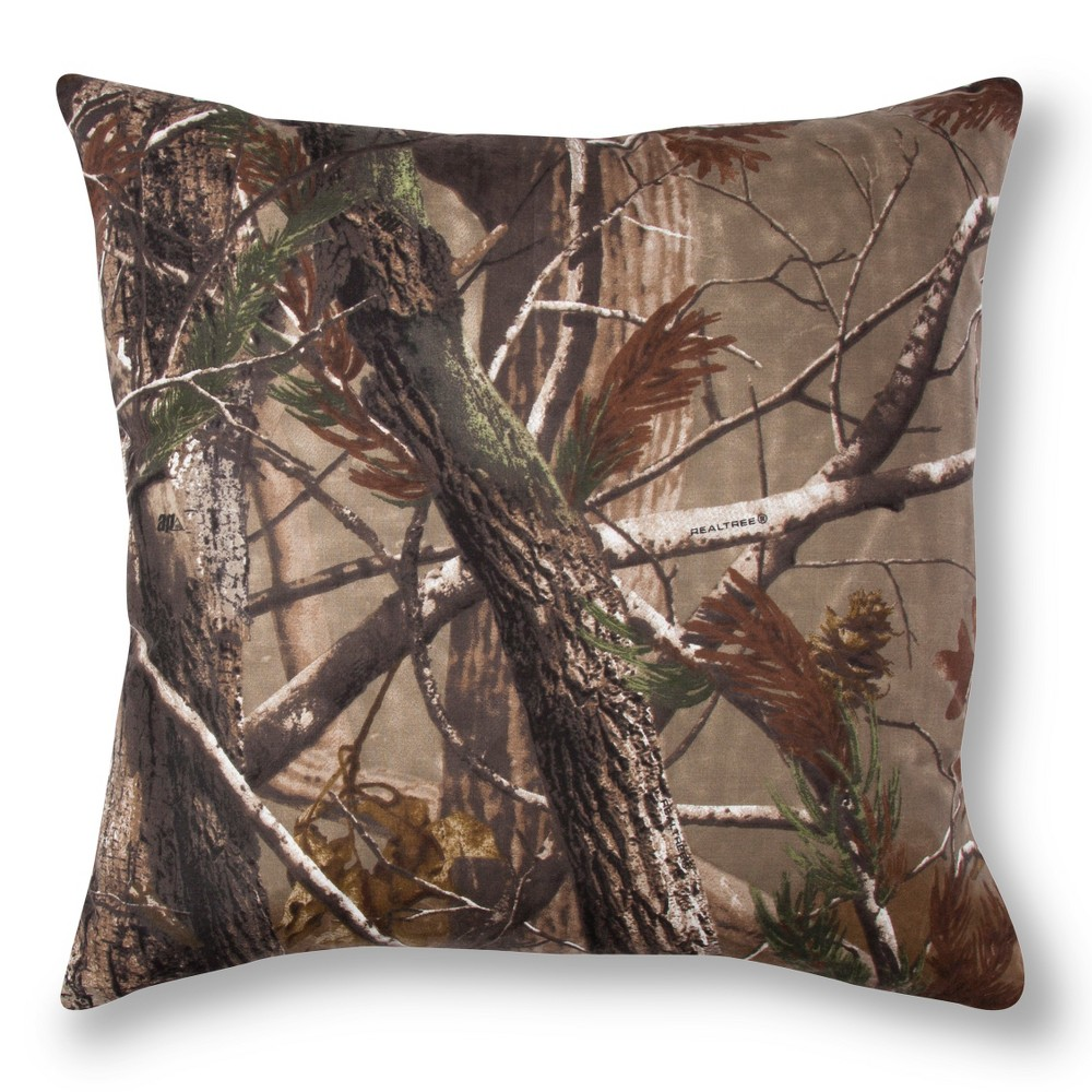 Image of Realtree Nature Inspired Throw Pillow - Brown (Square)