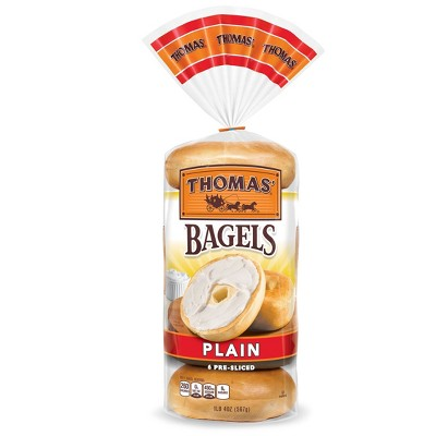 Thomas' Plain Bagels - 20oz/6ct