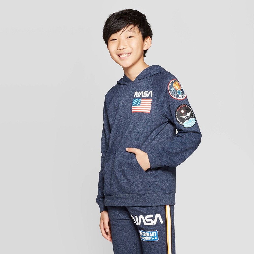 Best Price Boys Nasa Hoodie With Patch Navy S Blue