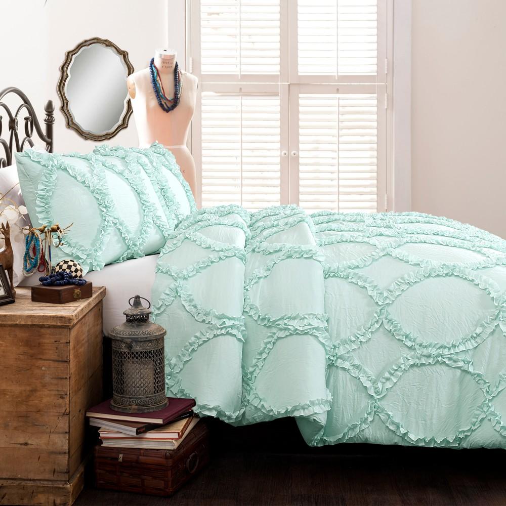 Image of 2pc Twin Avon Comforter Set Light Aqua - Lush Décor