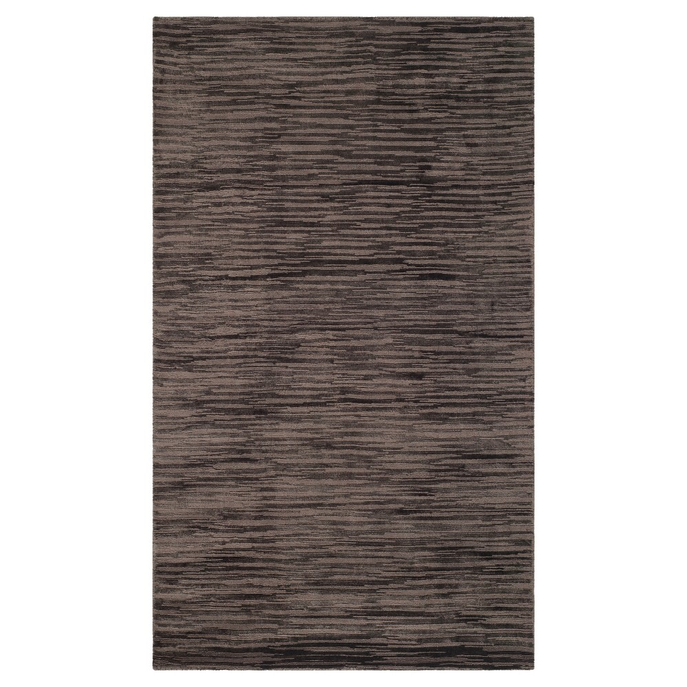 Charcoal (Grey) Solid Woven Area Rug - (4'x6') - Safavieh